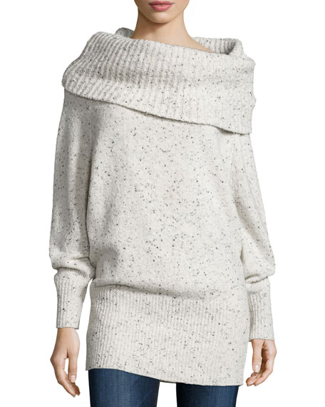 Joie Femie Oversized Cowl-Neck Tunic Sweater