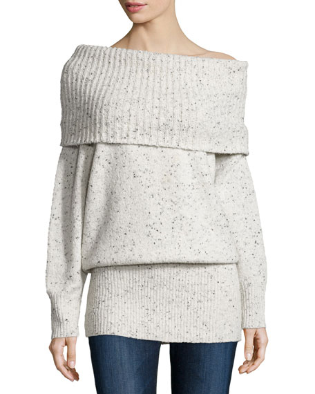 Femie Oversized Cowl-Neck Tunic Sweater