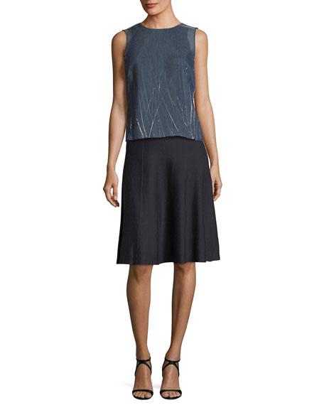 Paneled Twirl Skirt, Petite