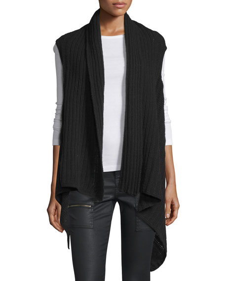 Ena B Ribbed-Knit Vest