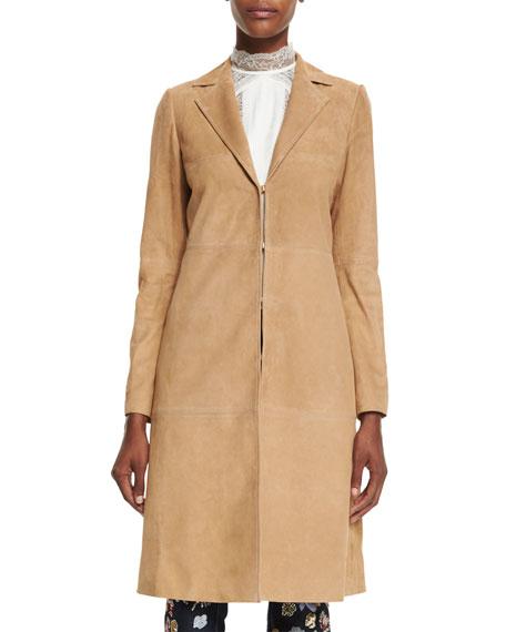 Logan Suede Mid-Length Coat