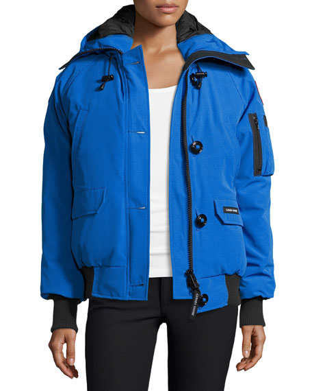 Canada GoosePBI Chilliwack Hooded Fur-Trim Parka, Royal Blue