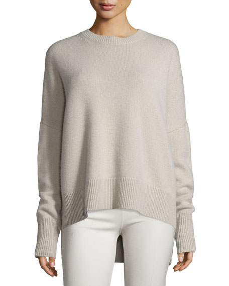 Karenia Ribbed Cashmere Sweater, Natural Linen