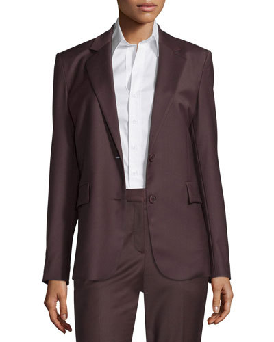 Aaren Wool-Blend Jacket, Garnet
