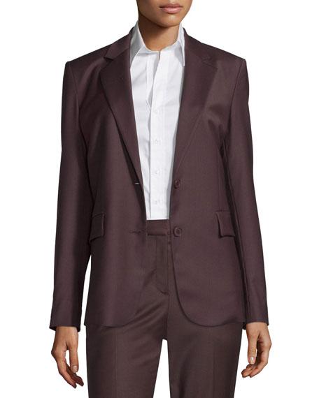 TheoryAaren Wool-Blend Jacket, Garnet