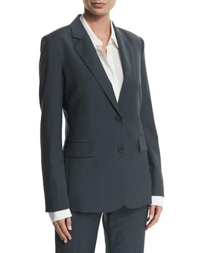Aaren Wool-Blend Jacket, Dark Slate