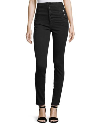 Natasha High-Waist Skinny Jeans, Black