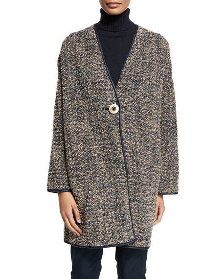 Katya Reversible Cocoon Coat, Femme Pink Multi