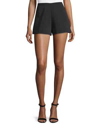 Carrie High-Rise Shorts, Black
