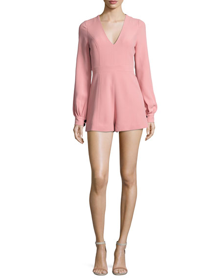 Alexis Kourtney Long-Sleeve Romper