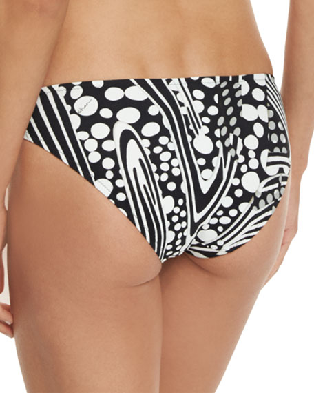 Adele Printed Ruched Hipster Swim Bottom