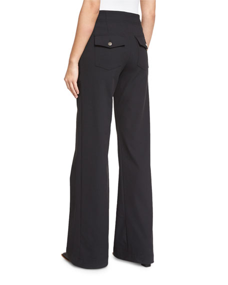 Wanderlust Wide-Leg Utility Pants, Black