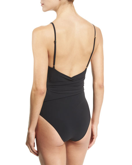 Timeless Basics Wrap One-Piece Swimsuit