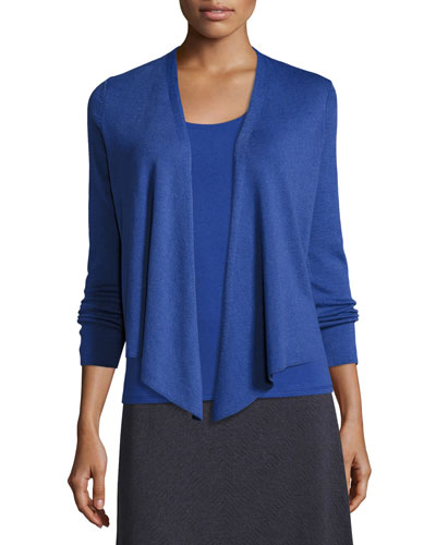 4-Way Lightweight Cardigan, Wild Blue