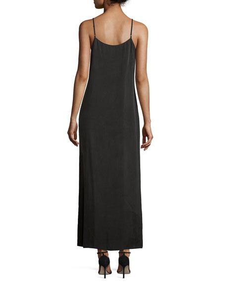 Long Cami Slip Dress, Black Onyx