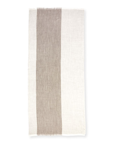 Heathered Alpaca-Silk Blend Wrap, Ash