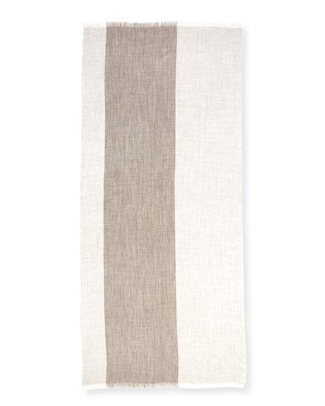 Heathered Alpaca-Silk Blend Wrap, Ash