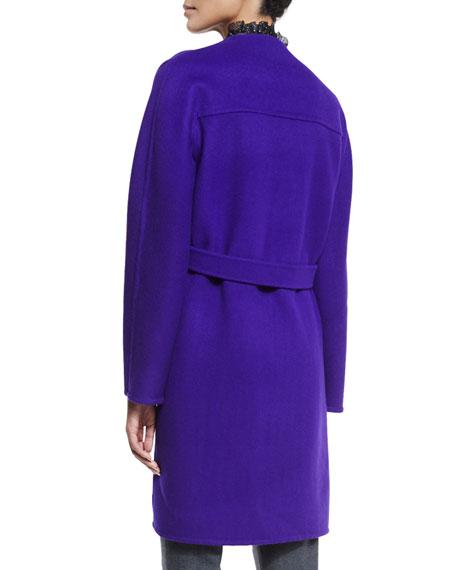 Dez Open-Front Oversized Coat, Mirage
