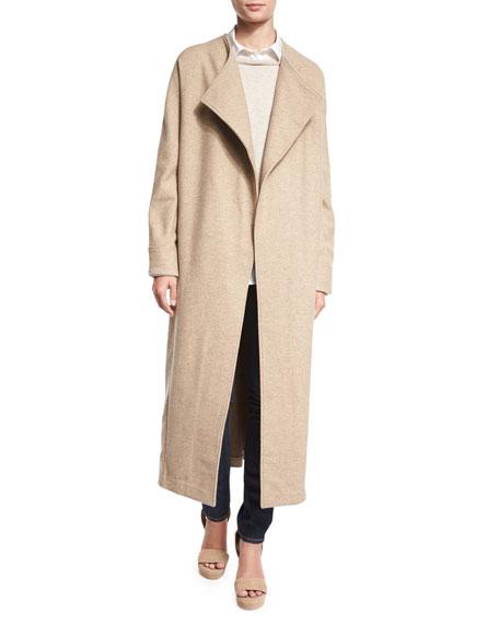 Misook Collection Long Drama Coat & Layered Long-Sleeve
