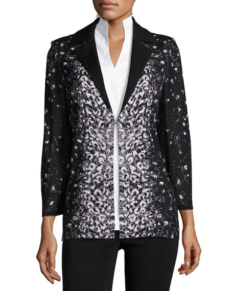 Luxe Leopard-Print Jacket, Plus Size