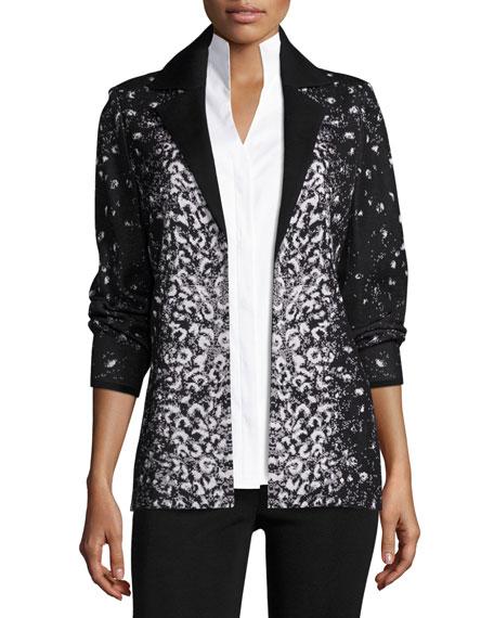 Misook Luxe Leopard-Print Jacket, Plus Size