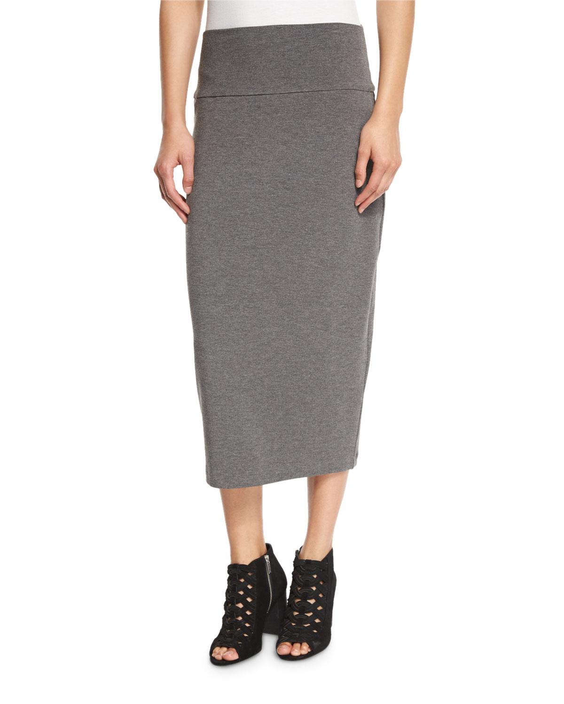 f2a2e612e Eileen Fisher Fold-Over Knee-Length Skirt, Petite | Neiman Marcus