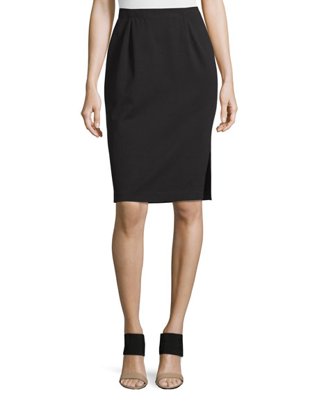 Eileen Fisher Ponte Pencil Skirt w/ Side Slit