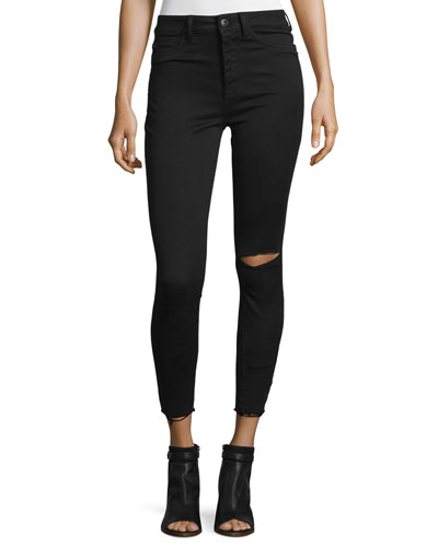 No. 2 Super Skinny Ultra High-Rise Ankle Jeans, Saber