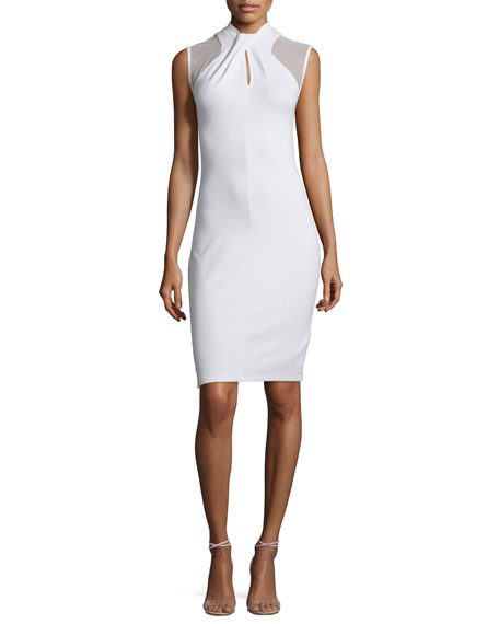 French Connection Tania Sleeveless Sheath Dress, White