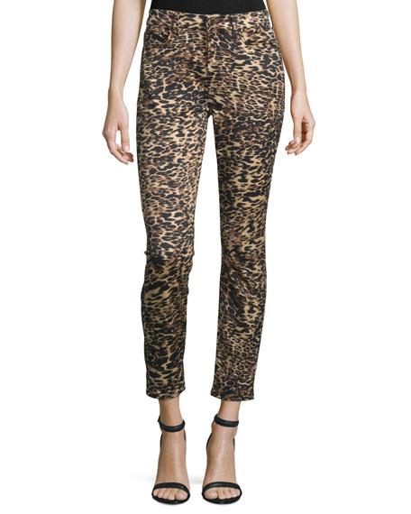 JEN7 Leopard-Print Skinny Ankle Jeans