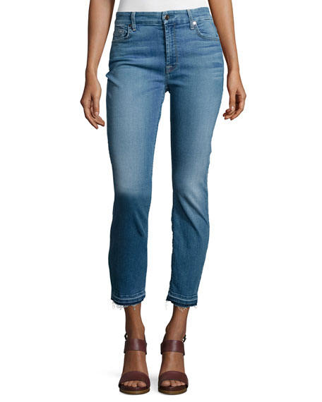 Heritage Skinny Ankle Jeans, Pacific Blue