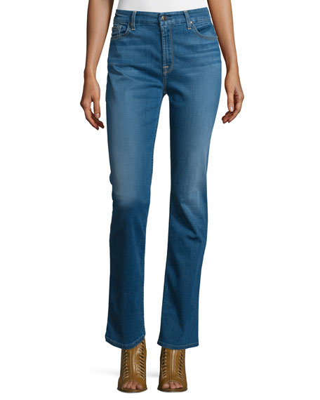 Riche Touch Slim Straight Jeans, Light Blue