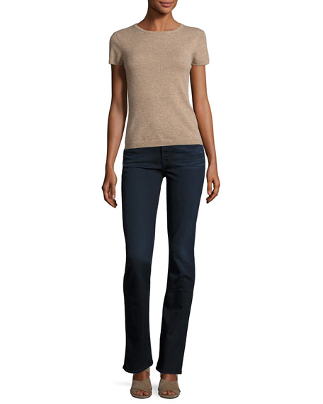 Riche Touch Slim Straight Jeans, Dark Blue