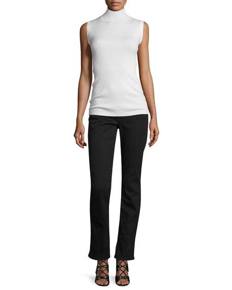 Riche Touch Slim Straight Jeans, Black Noir