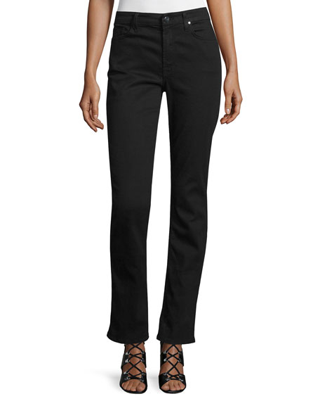 Riche Touch Slim Straight Jeans, Black Noir