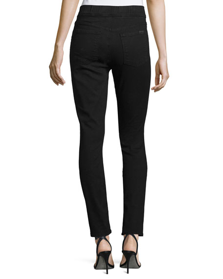 Riche Touch Comfort Skinny Ankle Jeans, Black