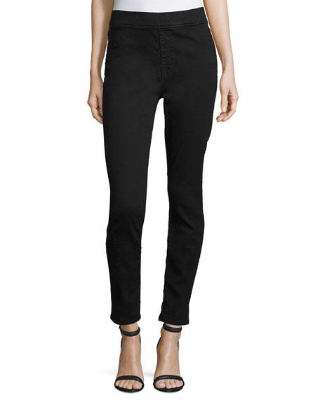 JEN7 Riche Touch Comfort Skinny Ankle Jeans, Black