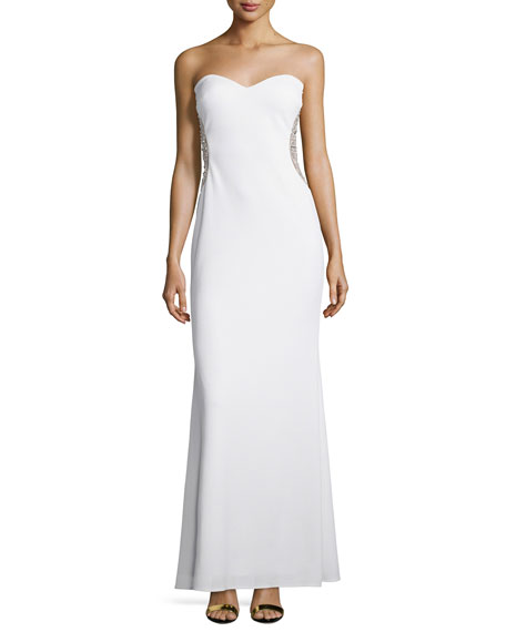 Mignon Strapless Sweetheart Gown, Ivory