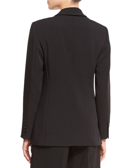 Long Two-Button Blazer, Black