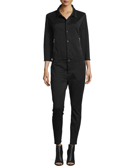 No 7. Scorpion Denim Utility Jumpsuit, Black