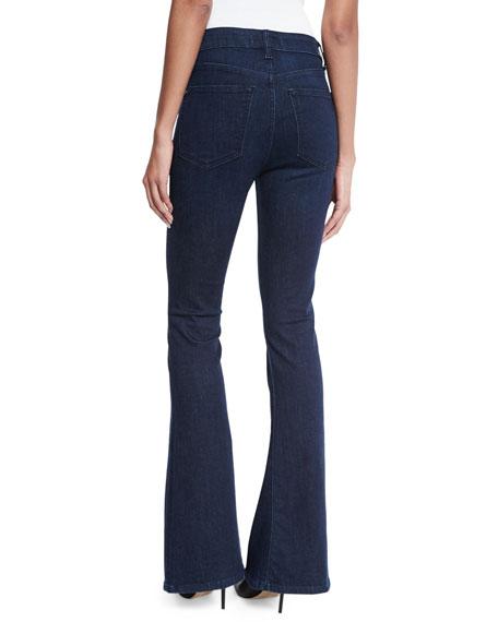 No. 5 Trimtone Flare-Leg Jeans, Splintered
