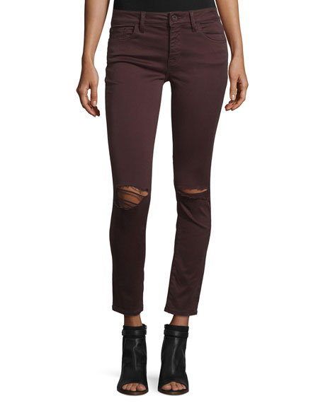 DL1961 Premium Denim Margaux Ripped Skinny Ankle Jeans,