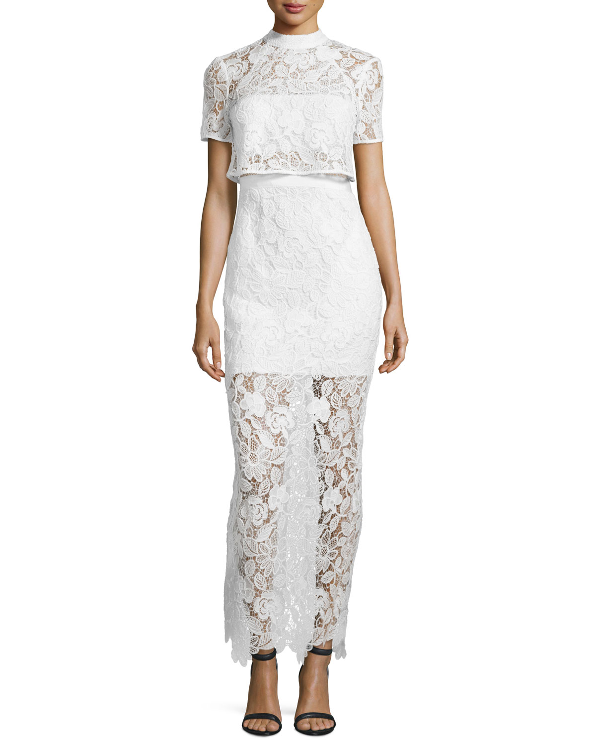 White Lace Gown | Neiman Marcus
