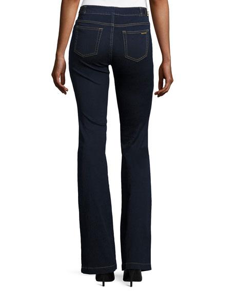 Selma Buckle-Waist Flare-Leg Jeans