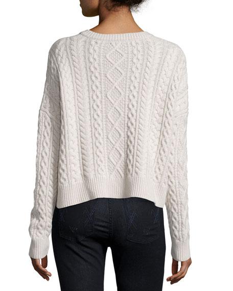 Cropped Boxy Fisherman Crewneck Sweater