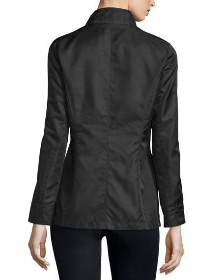 High-Neck Snap-Front Jacket