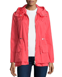Limbert Hooded Short Jacket, Coral