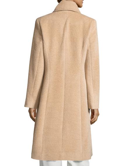 Round-Collar Alpaca/Wool Coat