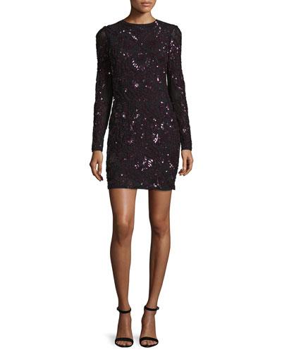 Nikki Sequined Cocktail Dress