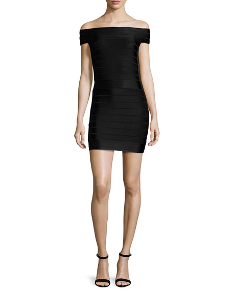 French Connection Spotlight Star Off-the-Shoulder Bandage Dress,